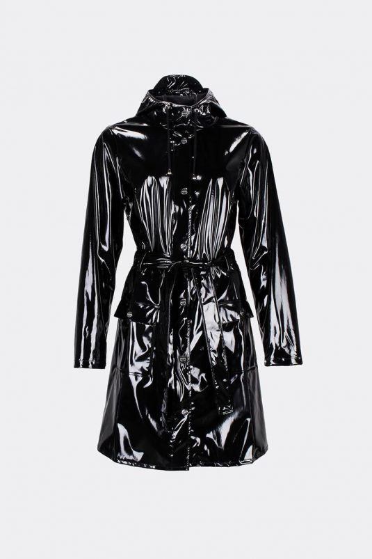 Rains Curve Jacket Glossy Black 1