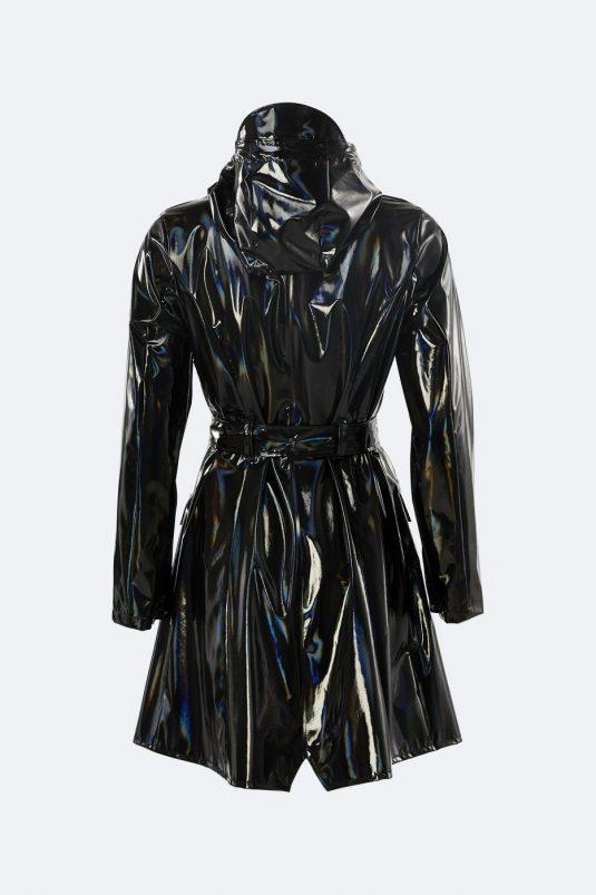 Rains Holographic Curve Jacket Glossy Black 1