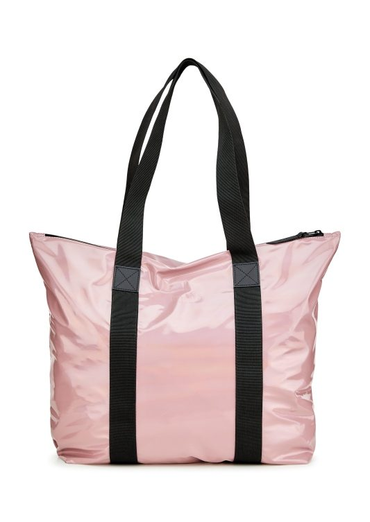 Rains Holographic Tote Bag Black 1