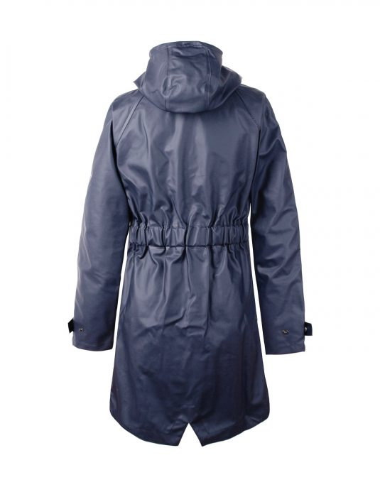 Didriksons Holga Womens Waterproof Park Raincoat Blue