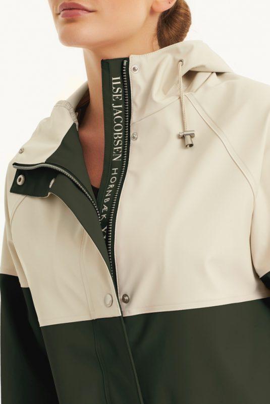 Ilse Jacobsen Colour Block Raincoat Rain112B Light True Rain