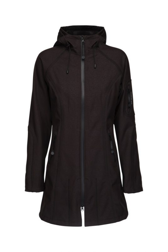 Ilse Jacobsen Soft Shell Raincoat Rain37 Black Indigo