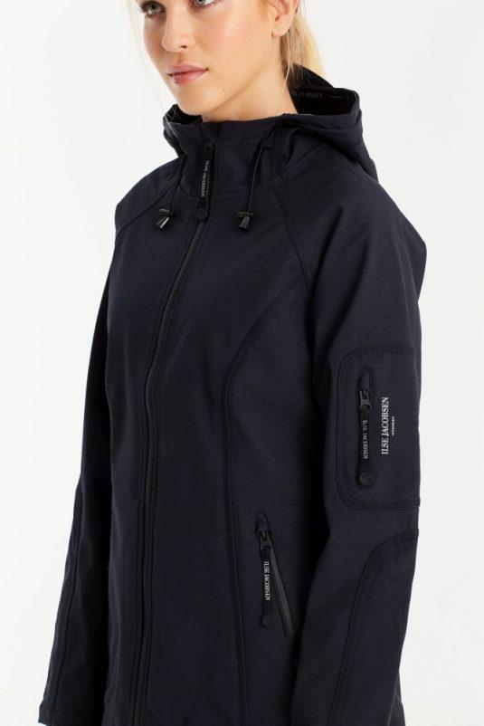 Ilse Jacobsen Soft Shell Raincoat Rain37 Black Indigo