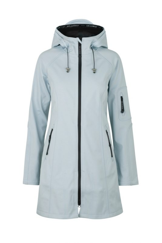 Ilse Jacobsen Rain37 Soft Shell Raincoat White Blue