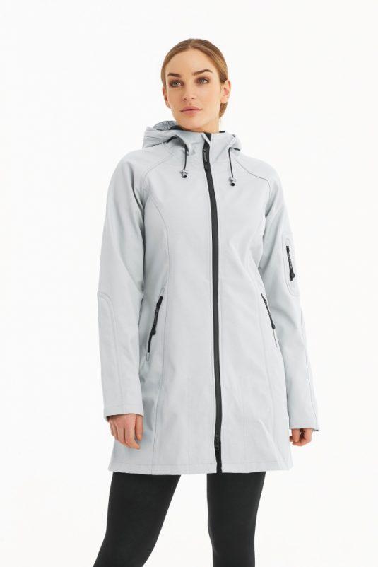Ilse Jacobsen Rain37 Soft Shell Raincoat White Blue