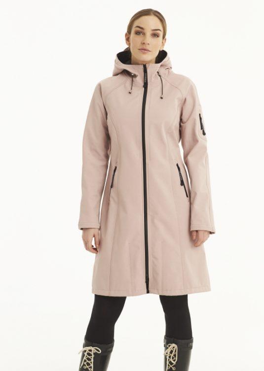 Ilse Jacobsen Long Soft Shell Raincoat - Black, Indigo