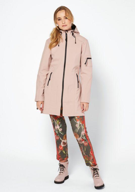 Ilse Jacobsen Rain07 Soft Shell Raincoat Adobe Rose 8