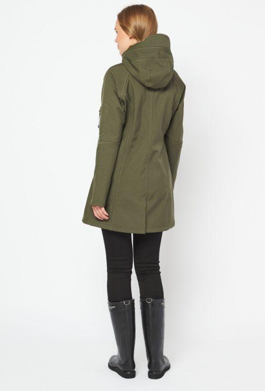 Ilse Jacobsen Rain37 Soft Shell Raincoat Army Green 4
