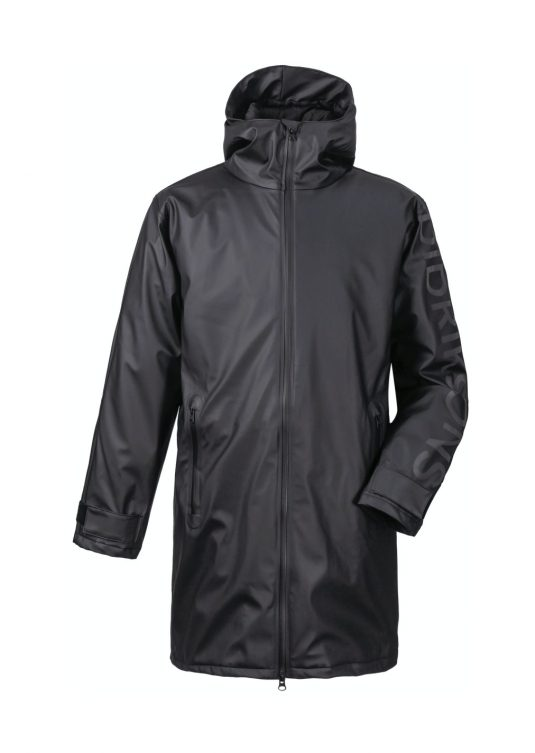 Didriksons Iceland Mens Waterproof Parka Raincoat Black