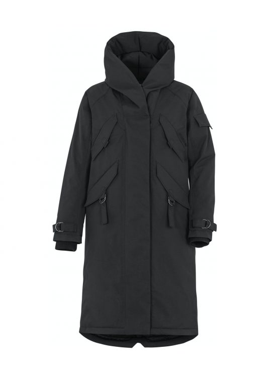 Didriksons Li Womens Waterproof Parka Raincoat Black