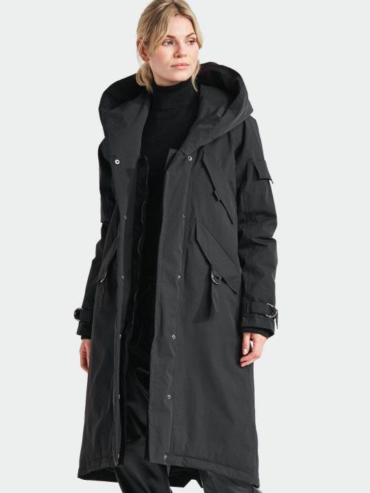 Didriksons Li Womens Waterproof Parka Raincoat Black