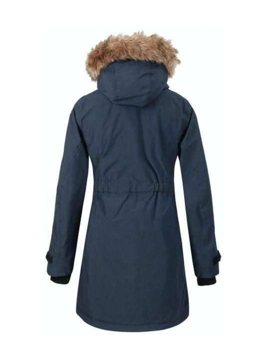 Didriksons Meja Womens Waterproof Parka Raincoat Dark Night Blue