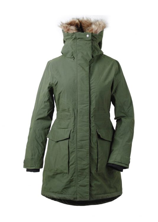 DD Meja Womens Insulated Waterproof Parka Spruce Green 1