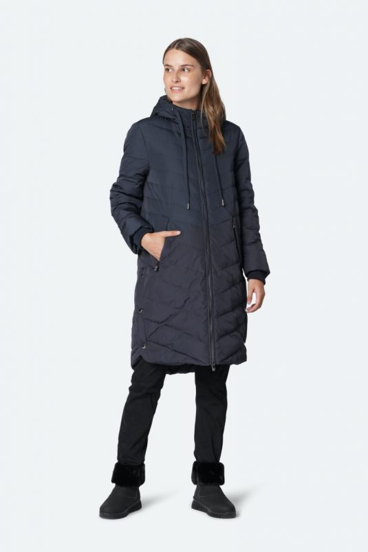 Ilse Jacobsen Peppy01 warm winter down coat army green dark indigo
