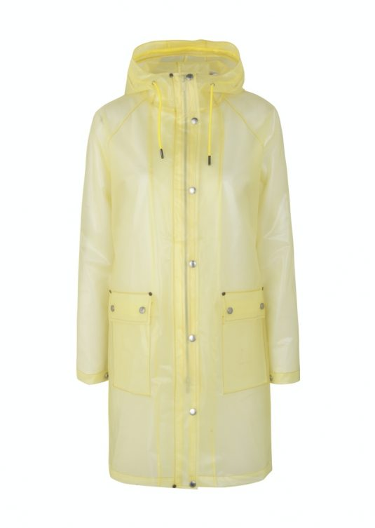 Ilse Jacobsen Rain134 semi transparent raincoat sunbeam yellow
