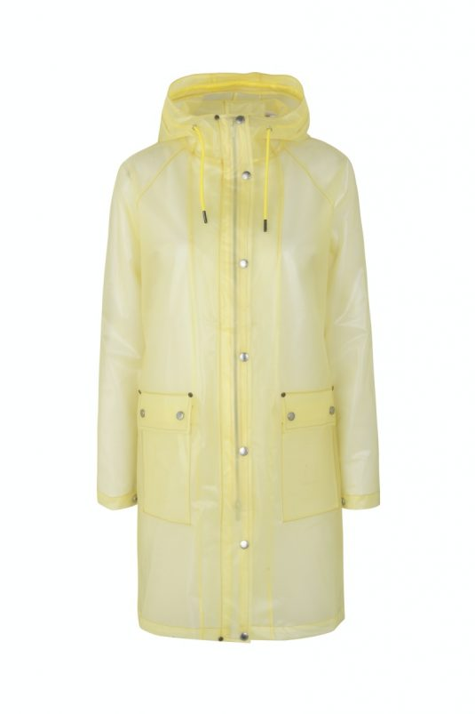 Ilse Jacobsen Rain134 semi transparent raincoat sunbeam yellow
