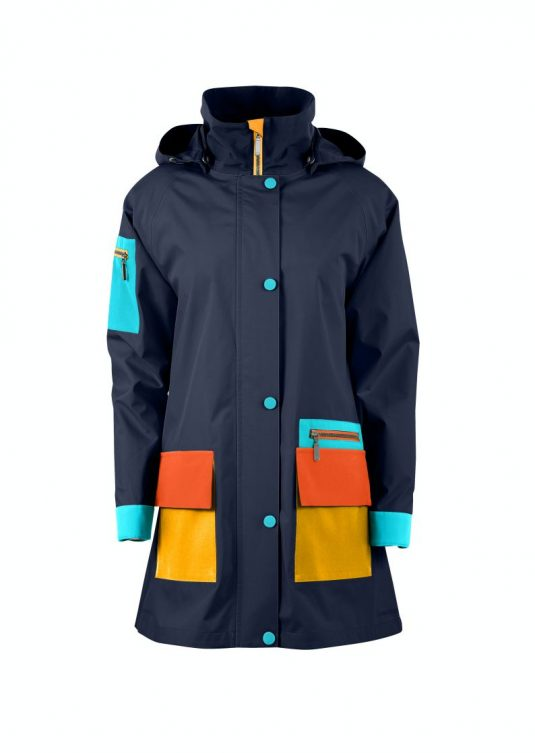 AE Rainwear Copenhagen Raincoat Navy Blue