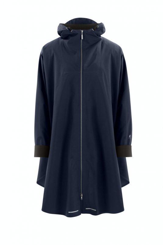 AE Rainwear Berlin Poncho Rain Cape Navy Indigo Blue