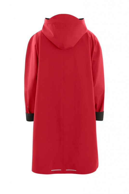 AE Rainwear Berlin Poncho Rain Cape Red