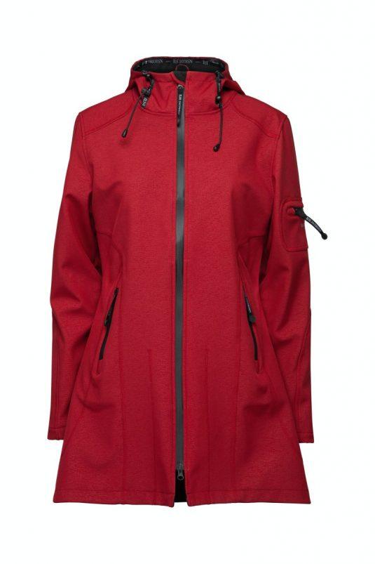 Ilse Jacobsen Soft Shell Raincoat Rain07 Rhubarb Deep Red Dark Red