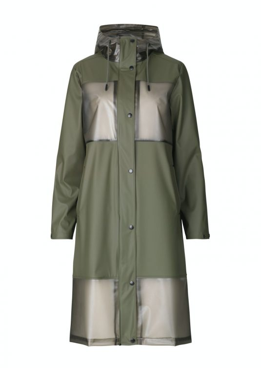 Ilse Jacobsen Clear Rain Rain154 Raincoat Army Green