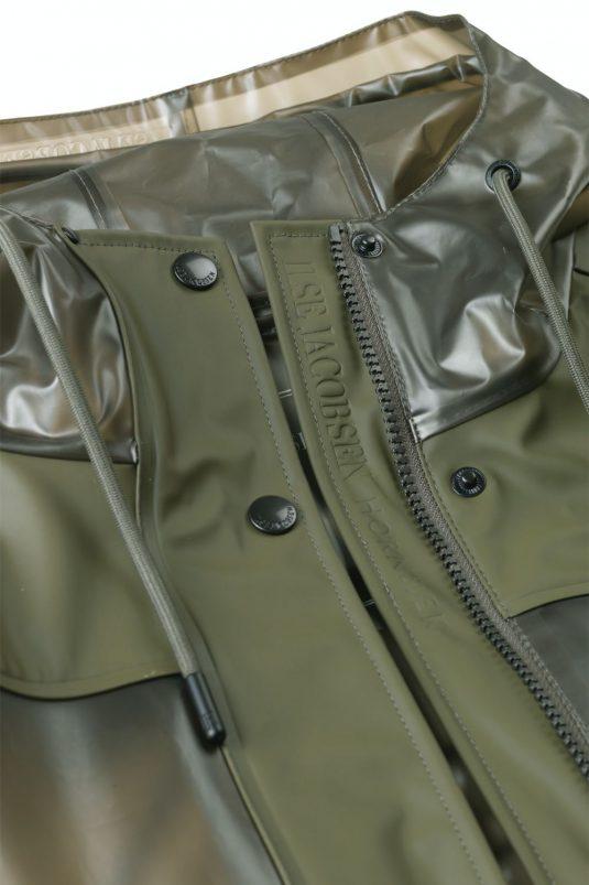 Ilse Jacobsen Clear Rain Rain154 Raincoat Army Green