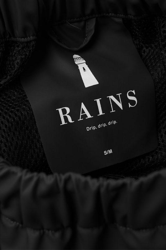 Rains Waterproof Rain Pants Black