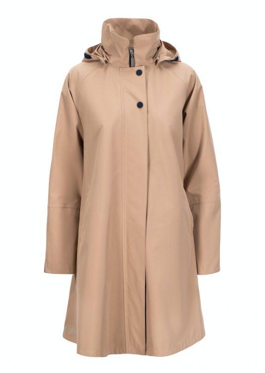 AE Rainwear Firenze Beige Lightweight Waterproof Breathable Ladies Raincoat