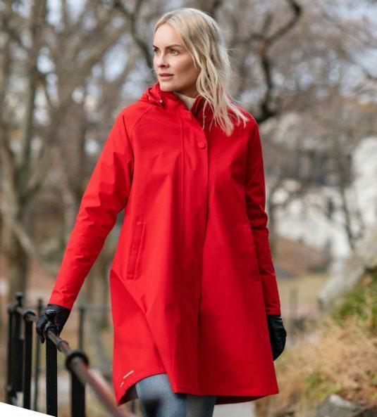 AE Rainwear Firenze Red Lifestyle 1