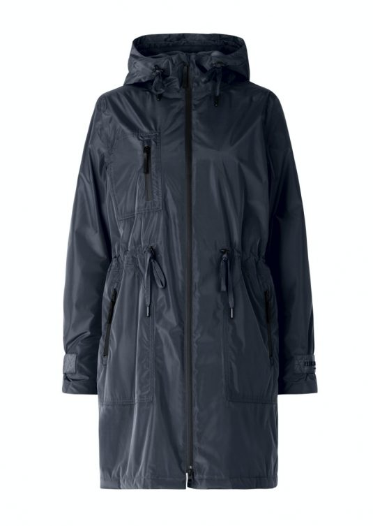 Ilse Jacobsen Rain142 Pearl Rain Warm Insulated Parka Raincoat Army Green Dark Indigo