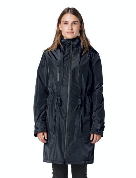 Ilse Jacobsen Rain142 Pearl Rain Warm Insulated Parka Raincoat Army Green Dark Indigo