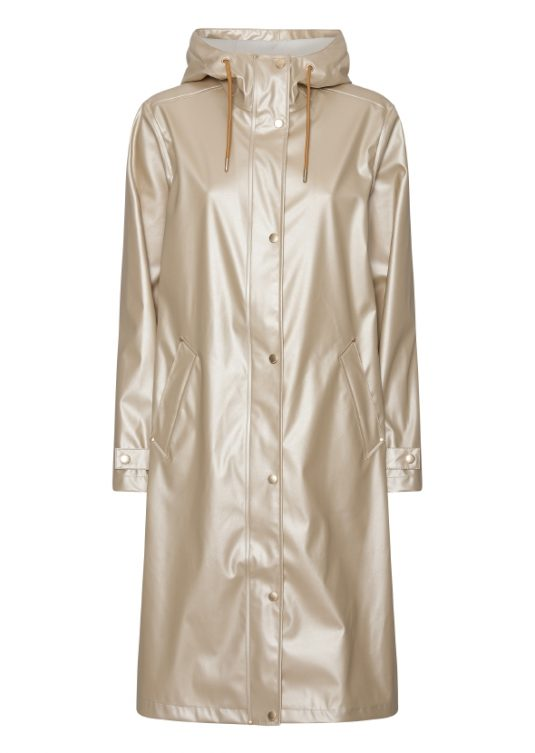 Ilse Jacobsen Rain166 Light True Rain Recycled Raincoat Gold Platin