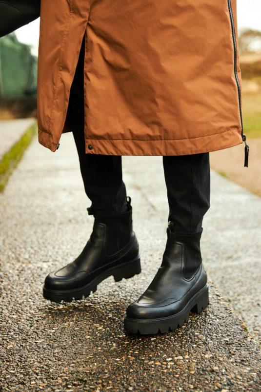 Ilse Jacobsen Rain150 Warm Long Raincoat lifestyle 1