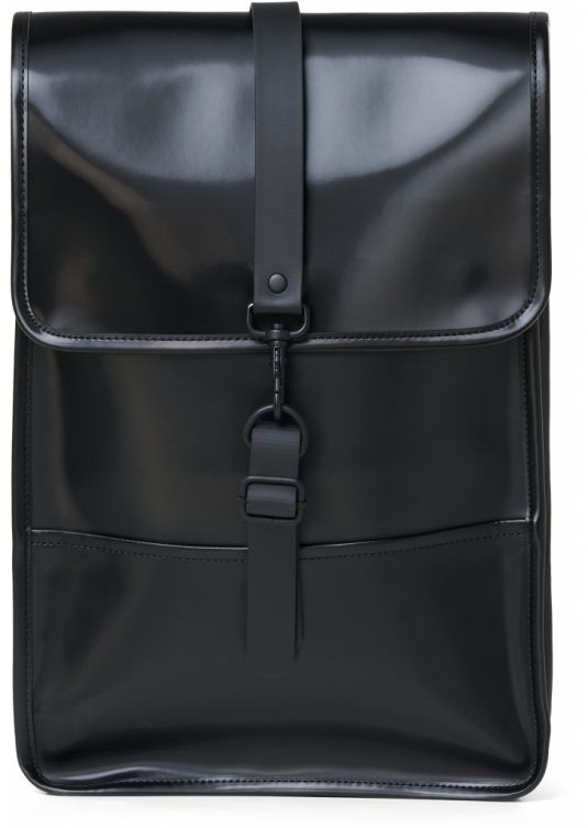 Rains Backpack Mini Shiny Black 2