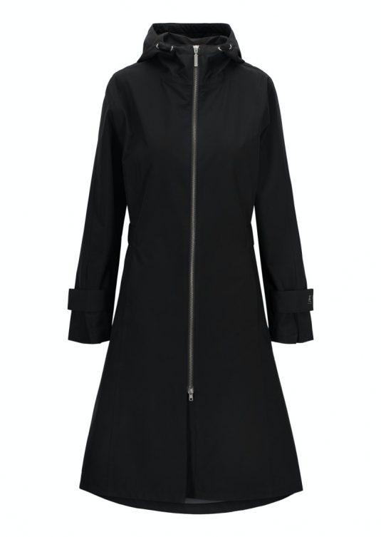 AE Rainwear Aarhus Beige Black Lightweight Waterproof Breathable Ladies Raincoat