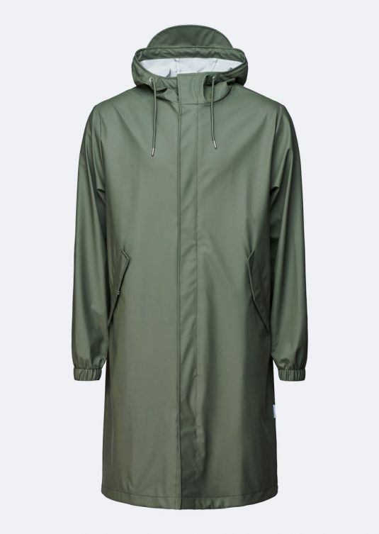 Rains Fishtail Parka Olive Green 1