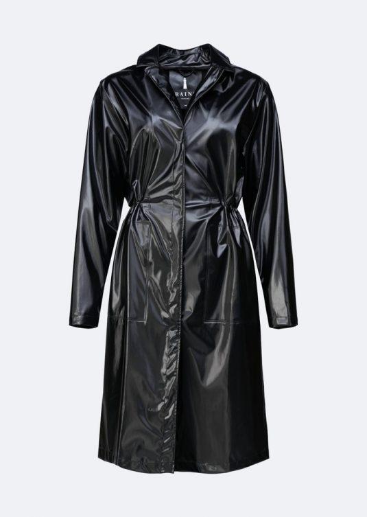 Rains String Overcoat Shiny Black 1