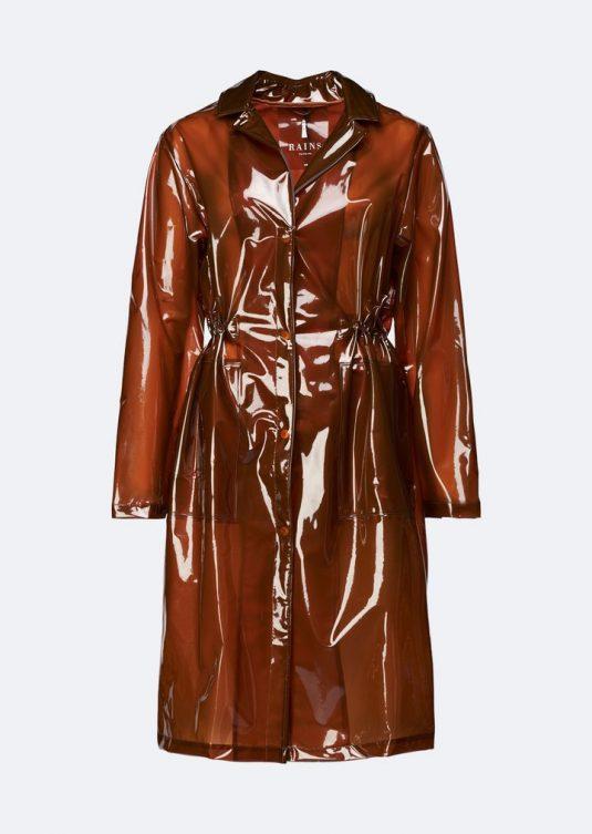 Rains Transparent String Overcoat Shiny Amber 1