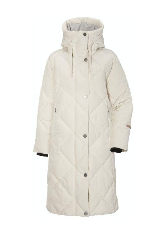 Didriksons Torun Winter Quilted Coat Black White Warm